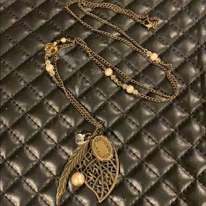 Torrid Antiqued Bronze Locket Charm Necklace
